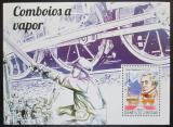 Poštovní známka Guinea-Bissau 2015 Parní lokomotivy Mi# Block 1344 Kat 11€