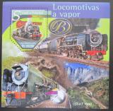 Poštovní známka Svatý Tomáš 2015 Parní lokomotivy Mi# Block 1143 Kat 10€