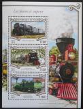 Poštovní známky Niger 2015 Parní lokomotivy Mi# 3546-48 Kat 13€