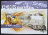Poštovní známka Svatý Tomáš 2015 Moderní lokomotivy Mi# Block 1126 Kat 10€