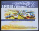 Poštovní známky Svatý Tomáš 2015 Moderní lokomotivy Mi# 6365-68 Kat 12€