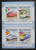 Poštovní známky Mosambik 2015 Moderní lokomotivy Mi# 8054-57 Kat 15€