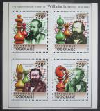 Poštovní známky Togo 2011 Wilhelm Steinitz, šachy Mi# 4099-4102 Kat 12€
