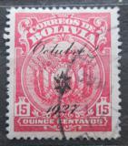 Poštovní známka Bolívie 1927 Státní znak přetisk Mi# 168