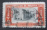 Poštovní známka Bolívie 1957 Budova telekomunikací přetisk Mi# 567