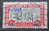 Poštovní známka Bolívie 1957 Alonso de Mendoza přetisk Mi# 565
