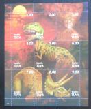Poštovní známky Tuvinská rep., Rusko 1998 Dinosauři Mi# N/N