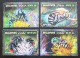 Poštovní známky Maledivy 2017 Včely Mi# 7243-46 Kat 10€