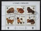 Poštovní známky Svatý Tomáš 2003 Kočky Mi# 2106-11 Kat 10€