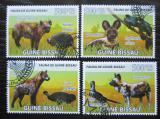 Poštovní známky Guinea-Bissau 2008 Hyeny a ptáci Mi# 3824-27 Kat 8€