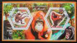 Poštovní známky Čad 2014 Opice Mi# N/N