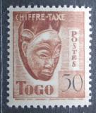 Poštovní známka Togo 1942 Maska, doplatní Mi# 35