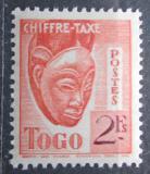 Poštovní známka Togo 1942 Maska, doplatní Mi# 36