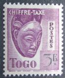 Poštovní známka Togo 1942 Maska, doplatní Mi# 37