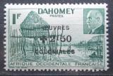 Poštovní známka Pobřeží Slonoviny 1944 Loď v laguně Ebrié přetisk Mi# 203