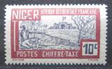 Poštovní známka Niger 1927 Pevnost Zinder, doplatní Mi# 12