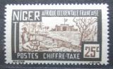 Poštovní známka Niger 1927 Pevnost Zinder, doplatní Mi# 15