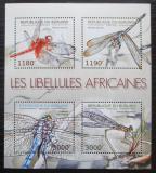Poštovní známky Burundi 2012 Vážky Mi# 2773-76 Bogen Kat 10€
