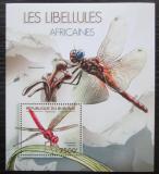Poštovní známka Burundi 2012 Vážky Mi# Block 279 Kat 9€