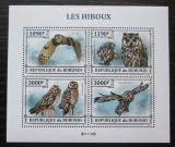 Poštovní známky Burundi 2013 Sovy Mi# 3323-26 Kat 10€