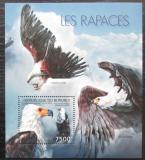 Poštovní známka Burundi 2012 Dravci Mi# Block 285 Kat 9€