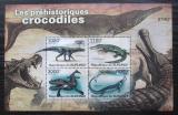 Poštovní známky Burundi 2011 Prehistoričtí krokodýli Mi# Block 163