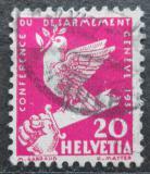 Poštovní známka Švýcarsko 1932 Holubice na zlomeném meči Mi# 252