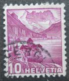 Poštovní známka Švýcarsko 1936 Zámek Chillon na Ženevském jezeře Mi# 299