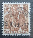 Poštovní známka Švýcarsko 1936 Roklina Via Mala Mi# 302