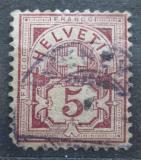 Poštovní známka Švýcarsko 1882 Nominální hodnota Mi# 52