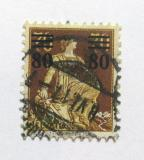 Poštovní známka Švýcarsko 1915 Helvetia přetisk Mi# 127 Kat 20€
