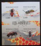 Poštovní známky Burundi 2012 Včely neperf. Mi# 2768-71 B