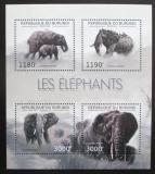 Poštovní známky Burundi 2012 Slon africký Mi# 2833-36 Kat 10€