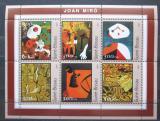 Poštovní známky Guinea-Bissau 2001 Umění, Joan Miró Mi# 1606-11 Kat 8€