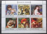 Poštovní známky Guinea-Bissau 2003 Umění, Renoir Mi# 2676-81 Kat 10€