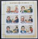 Poštovní známky Komory 2009 Světoví šachisti Mi# 2058-63 Kat 14€