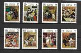 Poštovní známky Adžmán 1971 Umění Mi# 710-17