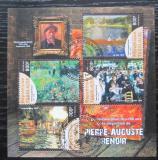 Poštovní známky Togo 2019 Umění, Pierre-Auguste Renoir Mi# N/N
