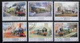 Poštovní známky Gabon 2017 Parní lokomotivy Mi# N/N