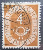 Poštovní známka Německo 1951 Poštovní trubka Mi# 124