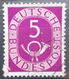 Poštovní známka Německo 1951 Poštovní trubka Mi# 125