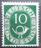 Poštovní známka Německo 1951 Poštovní trubka Mi# 128