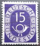 Poštovní známka Německo 1951 Poštovní trubka Mi# 129