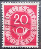 Poštovní známka Německo 1951 Poštovní trubka Mi# 130