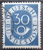 Poštovní známka Německo 1951 Poštovní trubka Mi# 132