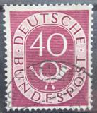 Poštovní známka Německo 1951 Poštovní trubka Mi# 133