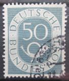 Poštovní známka Německo 1952 Poštovní trubka Mi# 134