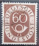 Poštovní známka Německo 1951 Poštovní trubka Mi# 135