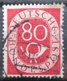 Poštovní známka Německo 1952 Poštovní trubka Mi# 137