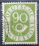 Poštovní známka Německo 1952 Poštovní trubka Mi# 138